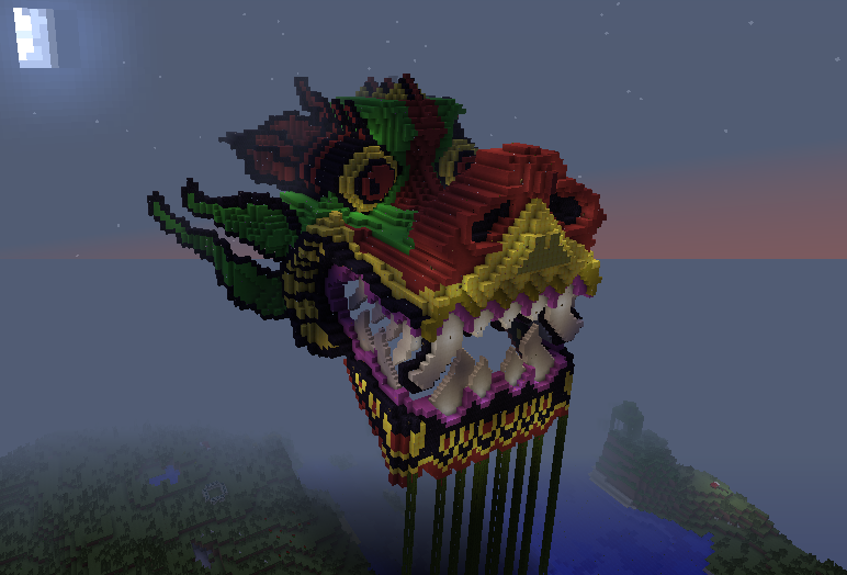how to get the dragon head in minecraft